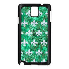 Royal1 White Marble & Green Marble (r) Samsung Galaxy Note 3 N9005 Case (black)