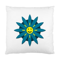 Smiley Flower Standard Cushion Case (two Sides)