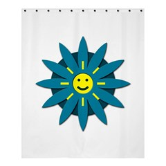 Smiley Flower Shower Curtain 60  X 72  (medium)
