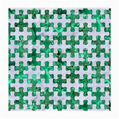 Puzzle1 White Marble & Green Marble Medium Glasses Cloth