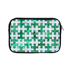 Puzzle1 White Marble & Green Marble Apple Ipad Mini Zipper Cases