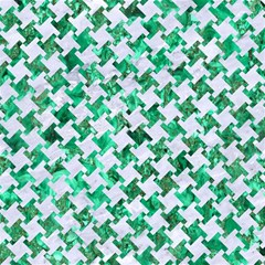 Houndstooth2 White Marble & Green Marble Magic Photo Cube
