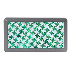 Houndstooth2 White Marble & Green Marble Memory Card Reader (mini)