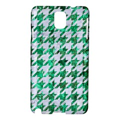 Houndstooth1 White Marble & Green Marble Samsung Galaxy Note 3 N9005 Hardshell Case