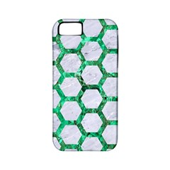 Hexagon2 White Marble & Green Marble (r) Apple Iphone 5 Classic Hardshell Case (pc+silicone)