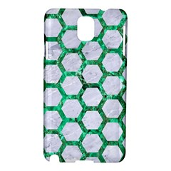 Hexagon2 White Marble & Green Marble (r) Samsung Galaxy Note 3 N9005 Hardshell Case