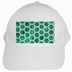 Hexagon2 White Marble & Green Marble White Cap by trendistuff