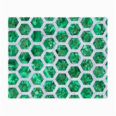 Hexagon2 White Marble & Green Marble Small Glasses Cloth