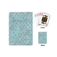 Hexagon1 White Marble & Green Marble (r) Playing Cards (mini)