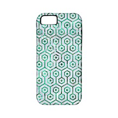 Hexagon1 White Marble & Green Marble (r) Apple Iphone 5 Classic Hardshell Case (pc+silicone)