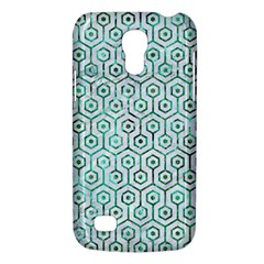 Hexagon1 White Marble & Green Marble (r) Samsung Galaxy S4 Mini (gt I9190) Hardshell Case