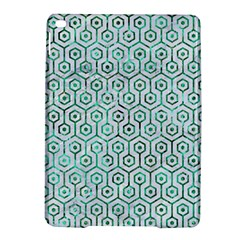 Hexagon1 White Marble & Green Marble (r) Ipad Air 2 Hardshell Cases