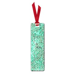 Hexagon1 White Marble & Green Marble Small Book Marks