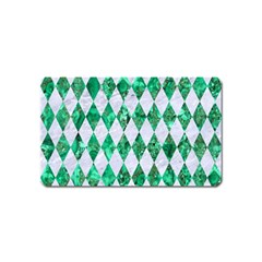 Diamond1 White Marble & Green Marble Magnet (name Card)