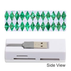 Diamond1 White Marble & Green Marble Memory Card Reader (stick)