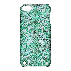 Damask2 White Marble & Green Marble (r) Apple Ipod Touch 5 Hardshell Case With Stand