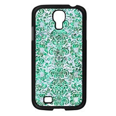 Damask2 White Marble & Green Marble (r) Samsung Galaxy S4 I9500/ I9505 Case (black)
