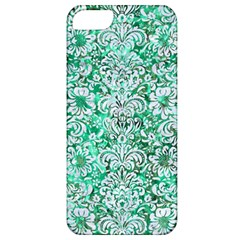 Damask2 White Marble & Green Marble Apple Iphone 5 Classic Hardshell Case