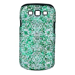 Damask2 White Marble & Green Marble Samsung Galaxy S Iii Classic Hardshell Case (pc+silicone)