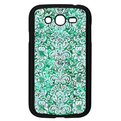 Damask2 White Marble & Green Marble Samsung Galaxy Grand Duos I9082 Case (black)