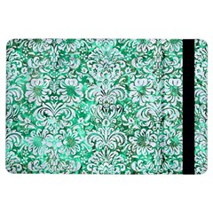 Damask2 White Marble & Green Marble Ipad Air Flip