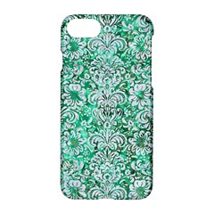 Damask2 White Marble & Green Marble Apple Iphone 7 Hardshell Case by trendistuff