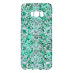 Damask2 White Marble & Green Marble Samsung Galaxy S8 Plus Hardshell Case