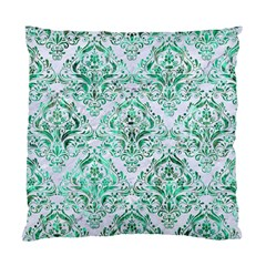 Damask1 White Marble & Green Marble (r) Standard Cushion Case (one Side)