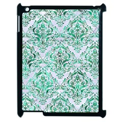 Damask1 White Marble & Green Marble (r) Apple Ipad 2 Case (black)