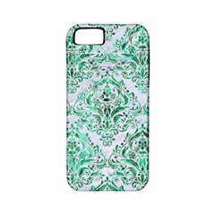 Damask1 White Marble & Green Marble (r) Apple Iphone 5 Classic Hardshell Case (pc+silicone)