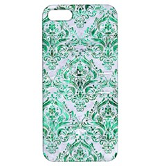 Damask1 White Marble & Green Marble (r) Apple Iphone 5 Hardshell Case With Stand