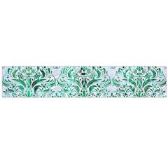 Damask1 White Marble & Green Marble (r) Large Flano Scarf