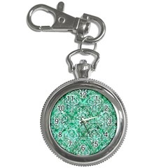 Damask1 White Marble & Green Marble Key Chain Watches
