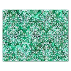 Damask1 White Marble & Green Marble Rectangular Jigsaw Puzzl