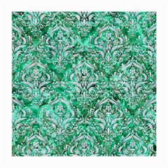 Damask1 White Marble & Green Marble Medium Glasses Cloth (2 Side)