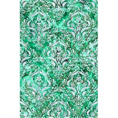 Damask1 White Marble & Green Marble 5 5  X 8 5  Notebooks