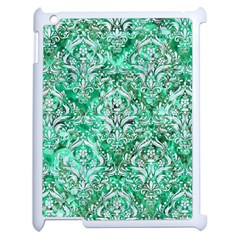 Damask1 White Marble & Green Marble Apple Ipad 2 Case (white)