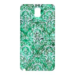 Damask1 White Marble & Green Marble Samsung Galaxy Note 3 N9005 Hardshell Back Case