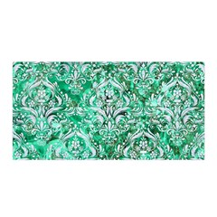 Damask1 White Marble & Green Marble Satin Wrap