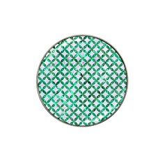 Circles3 White Marble & Green Marble (r) Hat Clip Ball Marker (10 Pack)