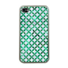 Circles3 White Marble & Green Marble (r) Apple Iphone 4 Case (clear)