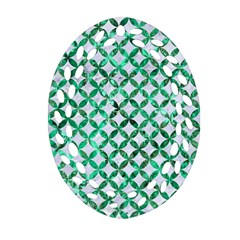 Circles3 White Marble & Green Marble (r) Oval Filigree Ornament (two Sides)