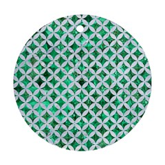 Circles3 White Marble & Green Marble Ornament (round)