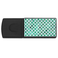 Circles3 White Marble & Green Marble Rectangular Usb Flash Drive