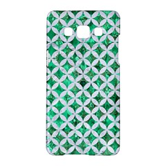 Circles3 White Marble & Green Marble Samsung Galaxy A5 Hardshell Case