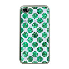 Circles2 White Marble & Green Marble (r) Apple Iphone 4 Case (clear) by trendistuff