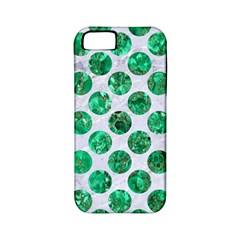 Circles2 White Marble & Green Marble (r) Apple Iphone 5 Classic Hardshell Case (pc+silicone)