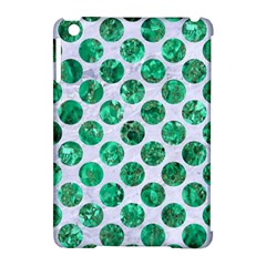 Circles2 White Marble & Green Marble (r) Apple Ipad Mini Hardshell Case (compatible With Smart Cover)