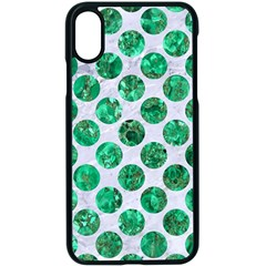 Circles2 White Marble & Green Marble (r) Apple Iphone X Seamless Case (black)