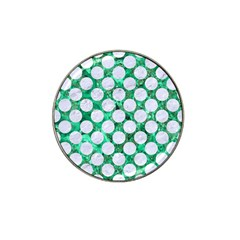 Circles2 White Marble & Green Marble Hat Clip Ball Marker (4 Pack)